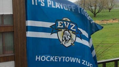 Hopp EVZ: Auch in Lindencham ist Playoff-Zeit, bzw. Hockeytown... Hopp Zug! (Bild: Josef Küng / PD)