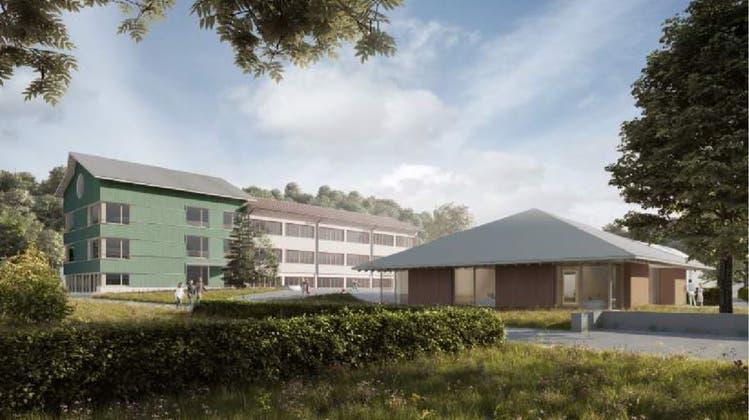 Das im November 2020 abgelehnte Bauprojekt im Zentrum von Meinisberg. (zvg)