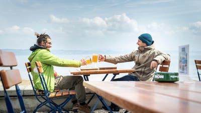 Die Terrassenöffnungerfreut die Gäste im Hotel Schiff bei Mannenbach. (Bild: Andrea Stalder)