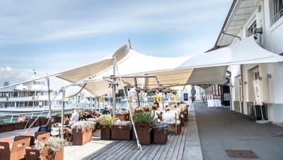Terrassenöffnung am Montag, Restaurant Hafen in Romanshorn. (Bilder: Andrea Stalder)