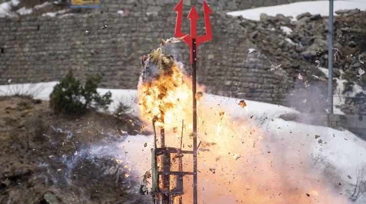 Der Böögg explodierte nach 12 Minuten und 57 Sekunden. (Bild: Urs Hanhart)