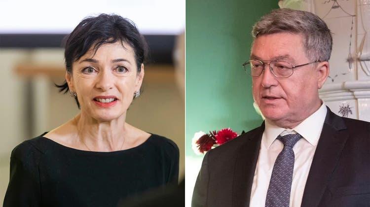 Sergei Garmonin, russischer Botschafter in der Schweiz – hier 2018 im Museum Burghalde in Lenzburg – mag es undiplomatisch scharf. (Alex Spichale)
