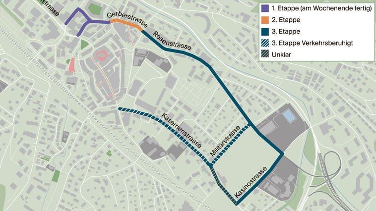 Das sind die Etappen der Bauarbeiten in Liestal.