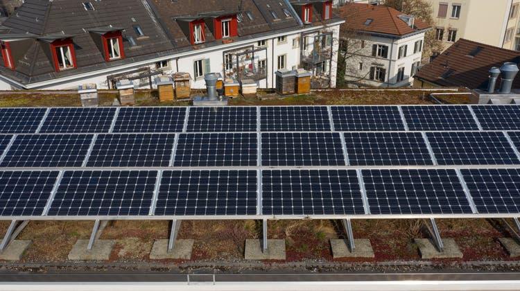 Für grosse Photovoltaikanlagen soll die Vergabe von Förderbeiträgen neu mittels Auktionen erfolgen können. (Symbolbild) (Keystone)
