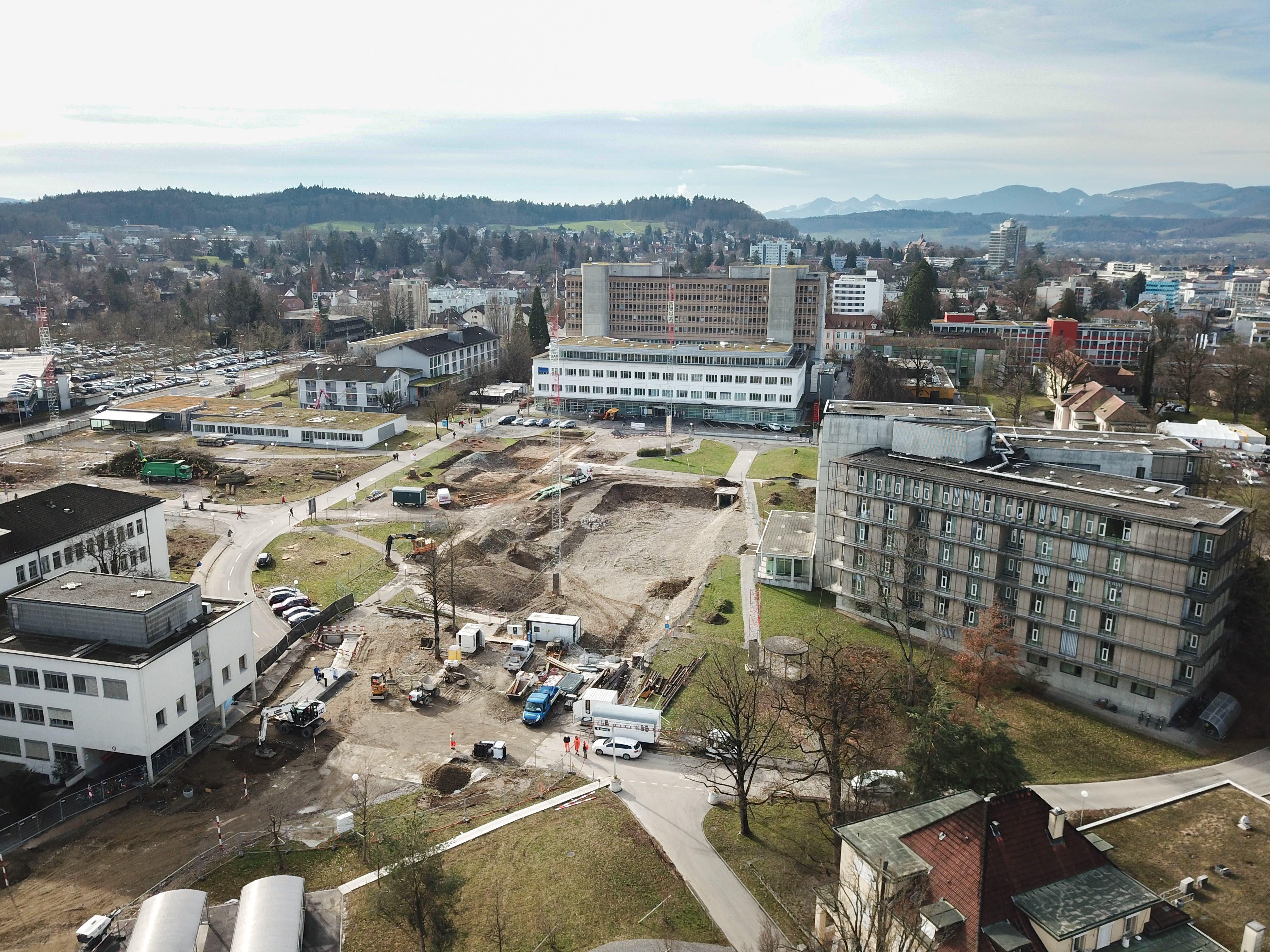 Ersatzneubau Kantonsspital Aarau, Tellstrasse: 619 Millionen Franken.