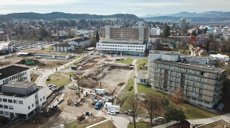 Ersatzneubau Kantonsspital Aarau, Tellstrasse: 619 Millionen Franken. (Michael Küng / Aargauer Zeitung)