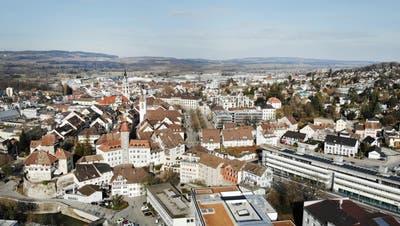 Blick aus der Vogelperspektive auf die Frauenfelder Innenstadt. (Bild: Andrea Stalder)