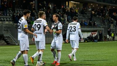 Vor 100 Zuschauern durften die Wiler gleich sieben Tore bejubeln. (Bild: Gianluca Lombardi)