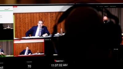 «Die Spital Thurgau AG ist eine Erfolgsgeschichte»: Regierungsrat Urs Martin im Stream aus dem Grossen Rat. (Donato Caspari)