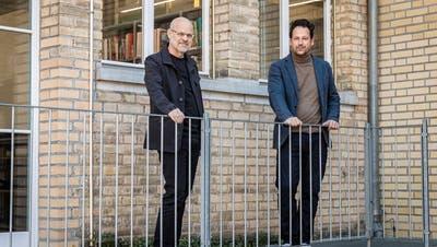 Ueli Wepfer, Präsident der SIA Sektion Thurgau, und Rico Lauper, Vorsitzender des Vereins Beobachtung für Wettbewerbe Ostschweiz. (Bild: Reto Martin)