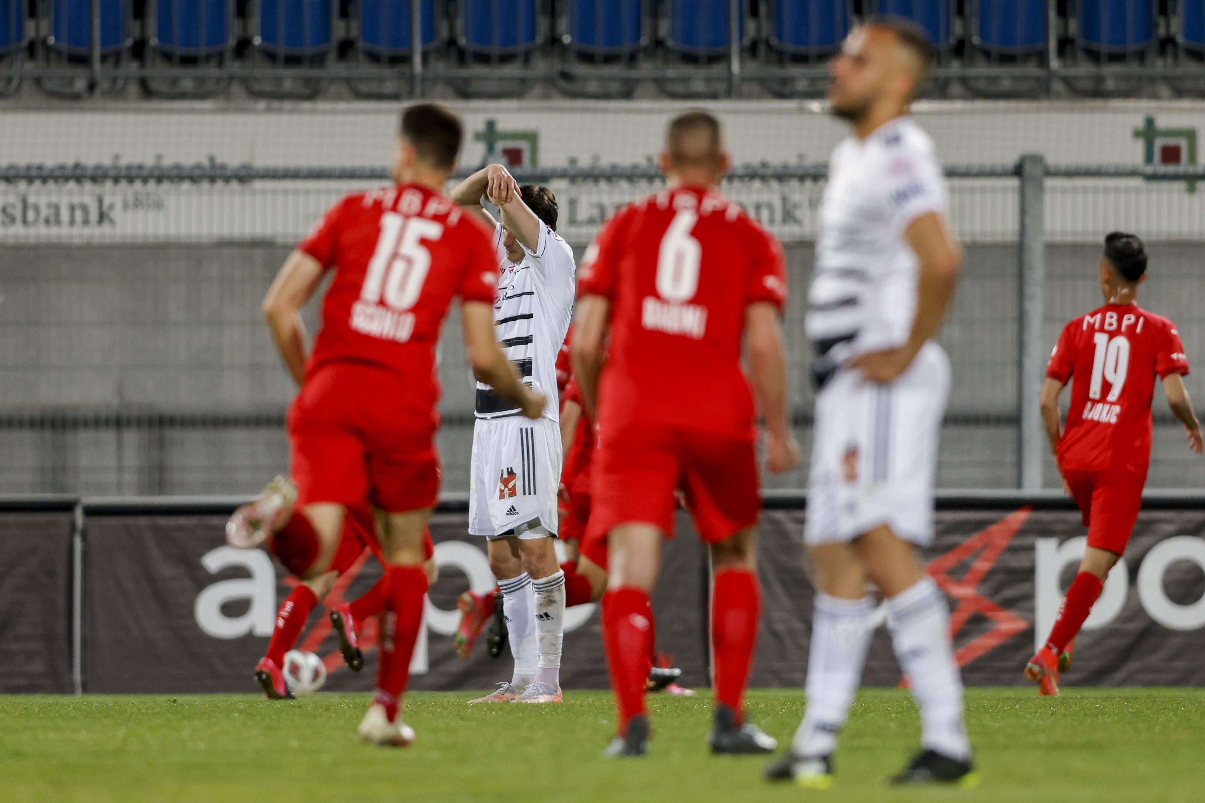 Basler Enttäuschung und Vaduzer Freude: Das Heimteam gleicht zum 1:1 aus.