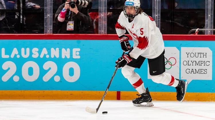 Lian Bichsel im Einsatz für die Schweizer Auswahl an der Jugend-Olympiade in Lausanne im vergangenen Jahr. (Pascal Muller / freshfocus)