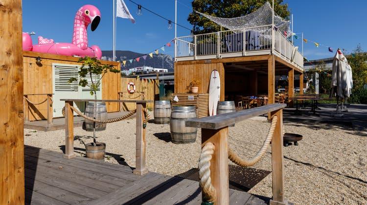 Die Badmeister Lounge auf dem CIS Areal in Solothurn. (Hanspeter Bärtschi)