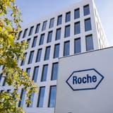 Der Basler Pharmariese Roche hatte im ersten Quartal grossen Erfolg mit Coronatests. (Keystone)