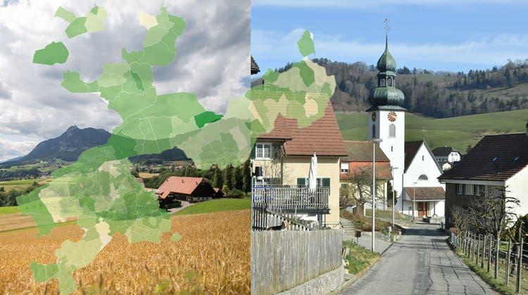 Tiefster und höchster Steuerfuss: Kammersrohr und Holderbank. (tom/bko)