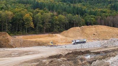 Für 40 Jahre geplant, in zehn Jahren gefüllt: Die Inertstoffdeponie Höli in Liestal. (Kenneth Nars (25. September 2019))