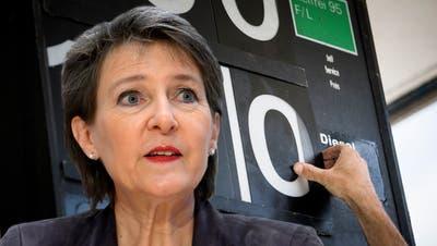 Das nächste Jahrzehnt sei entscheidend für den Klimaschutz, ist Energieministerin Simonetta Sommaruga überzeugt. (Bild: Keystone/Jean-Christophe Bott)