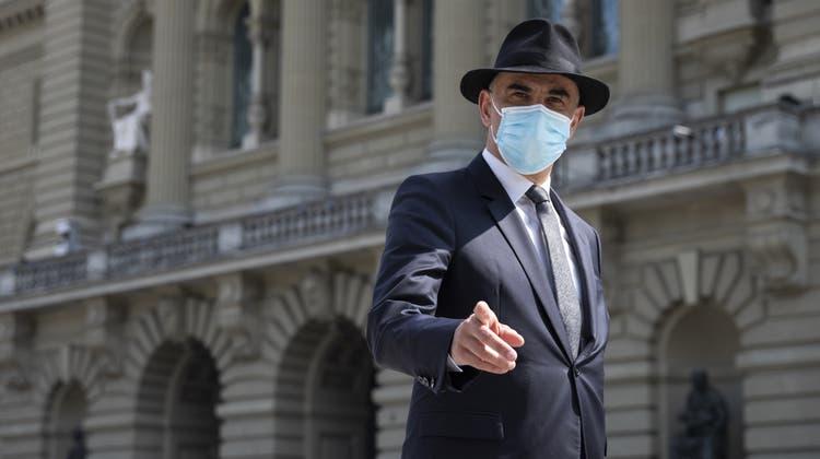 Gesundheitsminister Alain Berset: «Es gibt keine Abkürzung in einer Pandemie.» (Bild: Peter Klaunzer / Keystone)