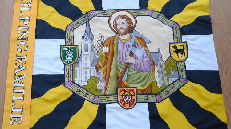 Die restaurierte Fahne der Kolpingfamilie Bütschwil. (Bild: PD)