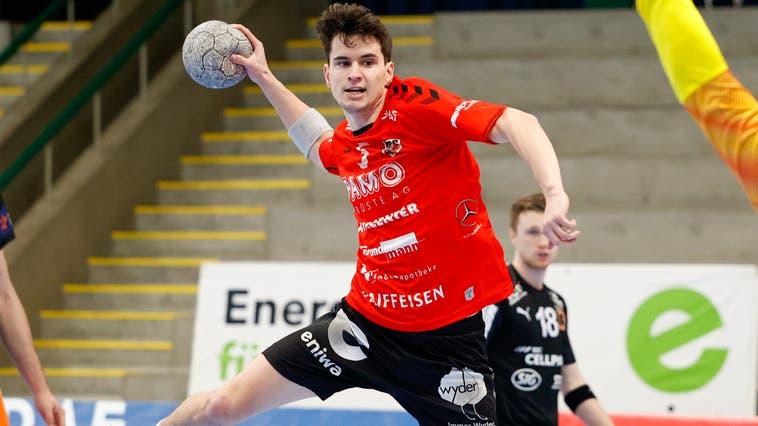 Flügelspieler Timothy Reichmuth freute sich gegen Kriens-Luzern über die Unterstützung der Heimfans. (Marc Schumacher / freshfocus)