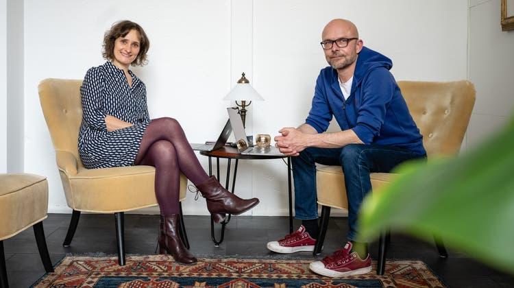 Carolin und Christoph Bareiss, Inhaber der trimell GmbH in Derendingen. (Michel Lüthi)