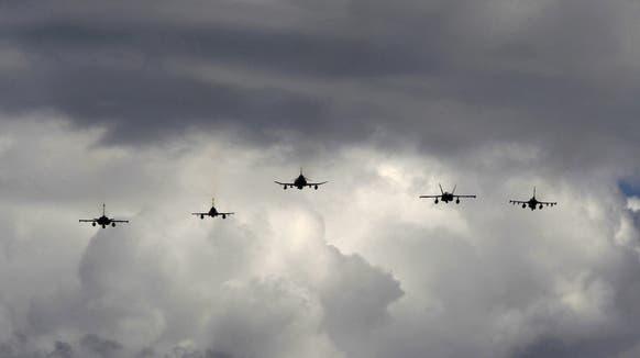 Flugzeuge in Formation. (Symbolbild) (Keystone)
