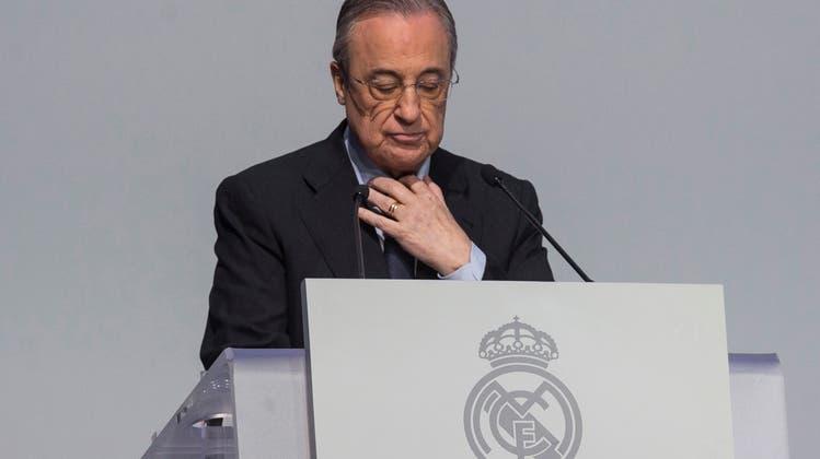 Florentino Pérez gibt sich mit seinen Plänen der Super League noch nicht geschlagen. (Keystone)