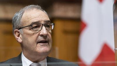 Reist nach Brüssel: Bundespräsident Guy Parmelin (SVP) (Keystone)