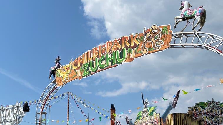 Der Chilbi-Park Zuchwil kurz vor der Eröffnung. (Rahel Meier)