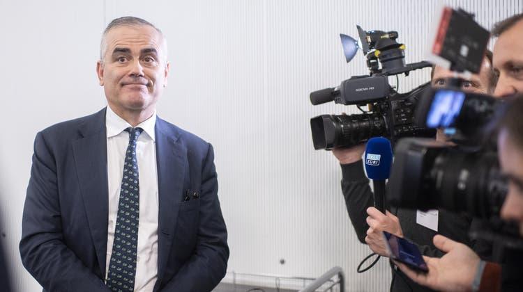 Für ihn ist die Strategie der Credit Suisse nach wie vor «stimmig»: CEO Thomas Gottstein. (Ennio Leanza / AP)