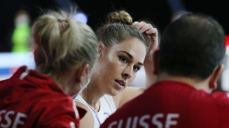 Schon in der Qualifikation kämpfte Giulia Steingruber mit muskulären Beschwerden am linken Oberschenkel. (Alexandra Wey / KEYSTONE)