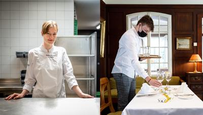 Elena Wahlen in der zurzeit leeren und unbenutzten Küche des «Löwen». (Michel Lüthi)
