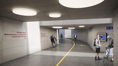 Die Unterführung ist neu durchgängig 6 Meter breit. (Visualisierung zVg)