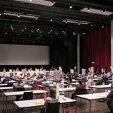 Die Sitzung des Einwohnerrats findet im Campussaal statt. (Bild: Britta Gut (19. Juni 2020))