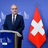 Wie weiter mit dem Rahmenabkommen? Bundespräsident Guy Parmelin bei EU-Kommissionschefin von der Leyen. (EBS)