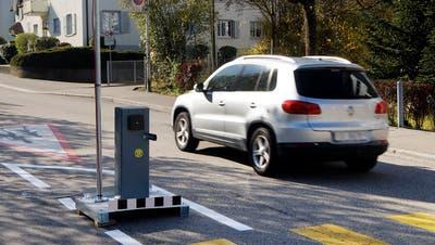 Barriere Riggenbachstrasse: Frühmorgens mutwillig demoliert. (André Albrecht)