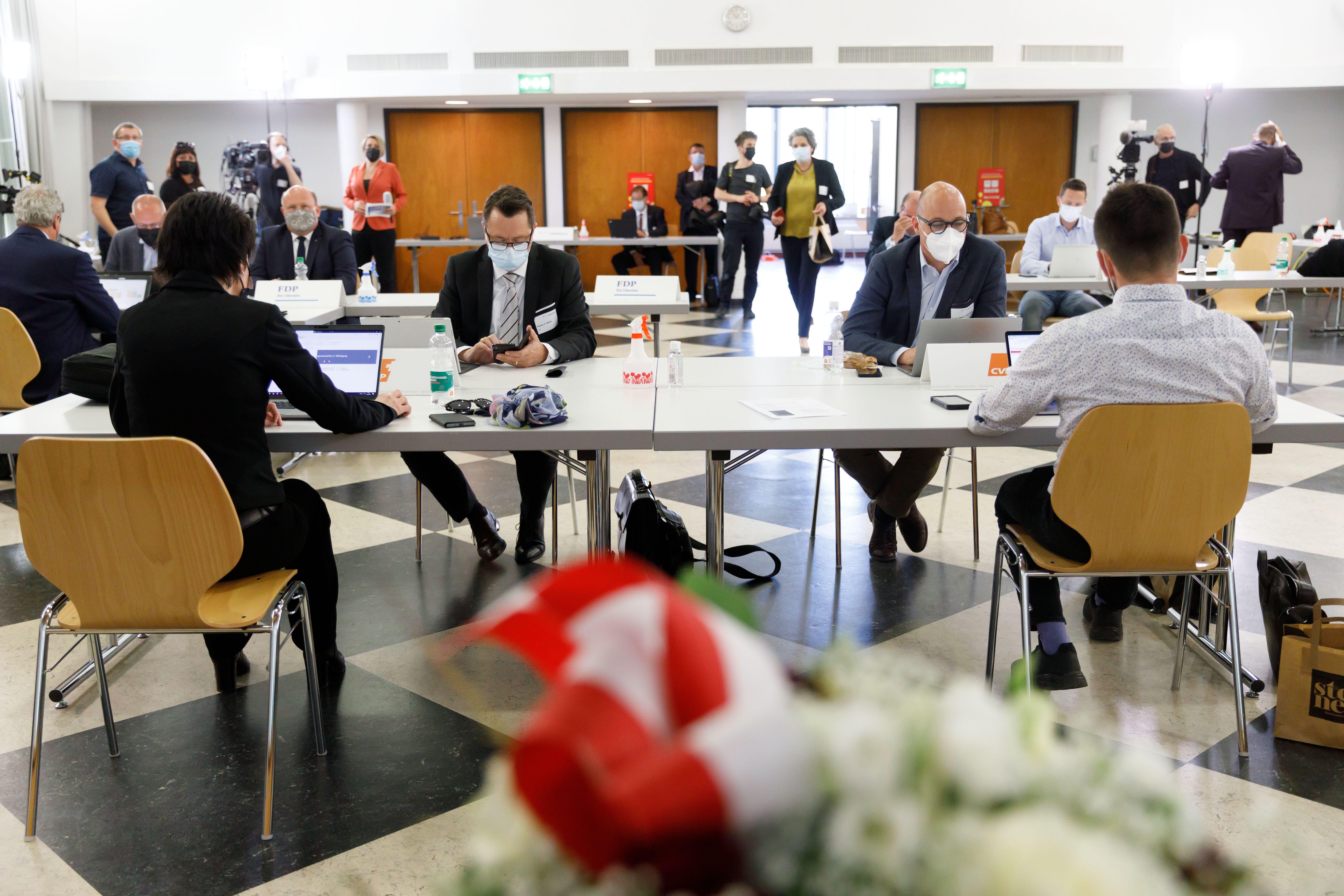 Regierungsratswahlen 2. Wahlgang: Blick ins Wahlzentrum.
