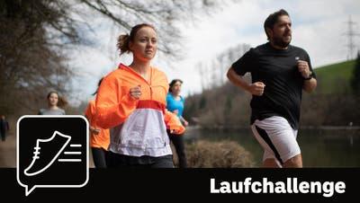 Sheila Eggmann und Ruben Schönenberger wollen bis zum 12. September fit sein für einen 10-Kilometer-Lauf. (Bild: Benjamin Manser)