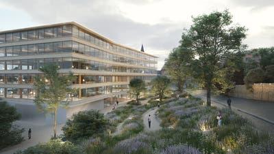 Zum neuen Gebäude gehört auch ein öffentlicher Park. (Bild: pd)