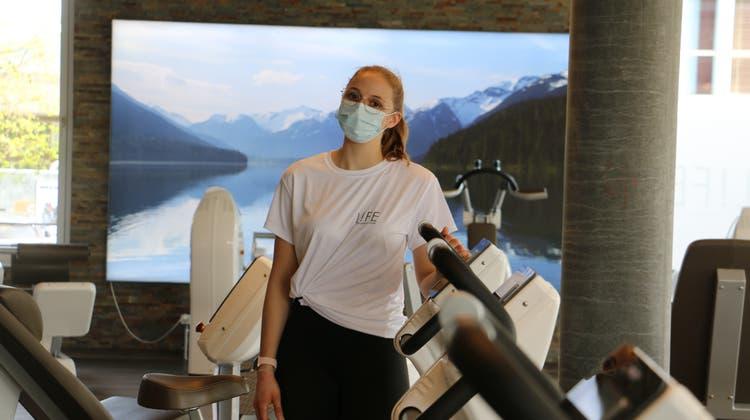 Mareike Jänsch ist die Managerin des «Life Swiss Health Clubs» in Frick. (Bild: dka (26. April 2021))