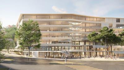 Der Haupteingang des geplanten HSG-Campus am Platztor befindet sich an der Ecke Unterer Graben/St.-Jakob-Strasse. (Büro Pascal Flammer)