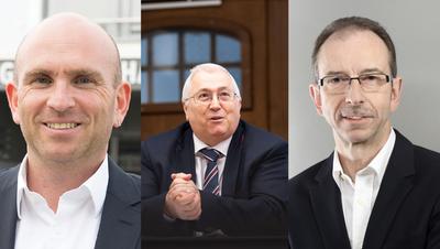Sie wollen Gemeindepräsidenten werden (von links nach rechts): André Grolimund, Jonas Motschi, Hans Peter Egli (zvg)