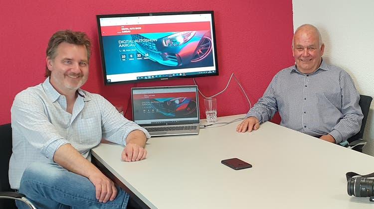 Messeleiter Chris Regez (links) und Martin Sollberger, Präsident AGVS Sektion Aargau. (zVg)