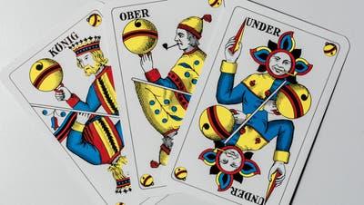 Kein Platz für Frauen: Auf den Jasskarten, mit denen in der Deutschschweiz gespielt wird, sind weibliche Figuren Fehlanzeige. (Chris Iseli)