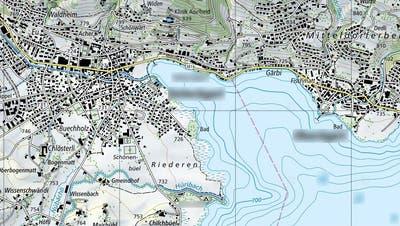 Dank den Beschriftungen auch für Anfänger im Kartenlesen kein Problem: Ausschnitt des Ägerisees. (Screenshot: Swisstopo/map.geo.admin.ch)