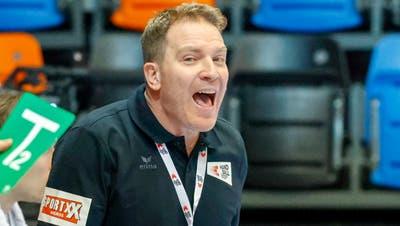 Handball-Nationaltrainer Michael Suter sagt: «Wir sind uns solche Alles-oder-Nichts-Situationen nicht nur gewohnt, wir mögen sie.» (Marc Schumacher / freshfocus)