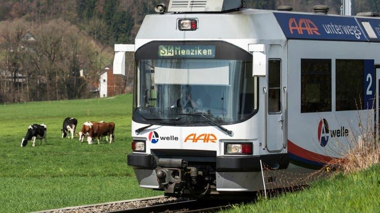 Das 11-jährige Mädchen wurde in Muhen AG von einem Zug der Wynental- und Suhrentalbahn erfasst. (Archivbild) (Keystone)