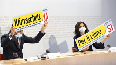 Mit diesem Sujet wirbt das Ja-Komitee für das CO2-Gesetz. (Keystone)