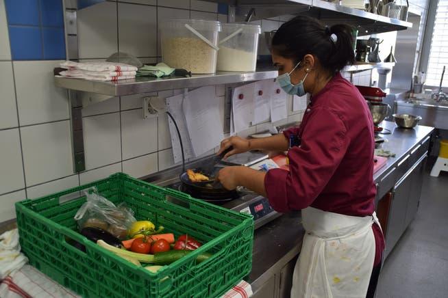 Sunice Müller war froh, dass sie sich in der Küche vom Corona-Alltag ablenken konnte.