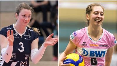 In der Meisterschaft Konkurrentinnen, im Nationalteam Teamkolleginnen: DüdingensNicole Eiholzer (links) und Pfeffingens Madlaina Matter. (Bilder: Imago und Freshfocus)